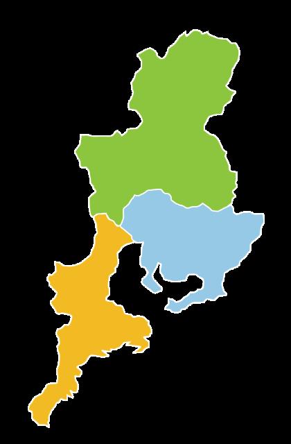 東海3県地図